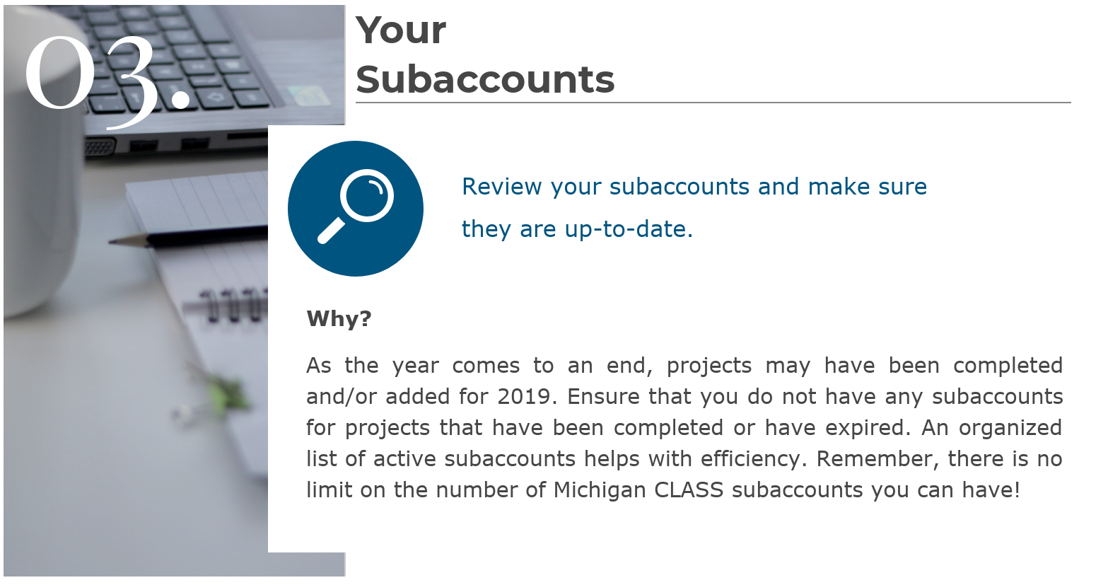 12.18 - Michigan CLASS Updating Your Subaccounts